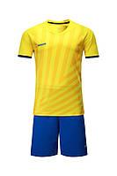 Футбольная форма Europaw 016 желто-синяя