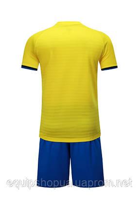 Футбольная форма Europaw 016 желто-синяя, фото 2