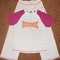 Брендовый спортивный костюм Reebok футболка + бриджи р.S