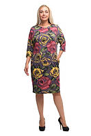 Женское платье большого размера, женская одежда больших размеров 1805001/1