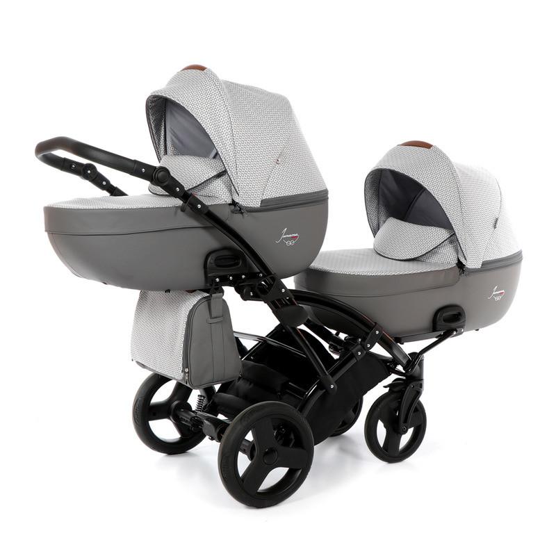 Дитяча коляска для двійні Junama Madena Duo Slim