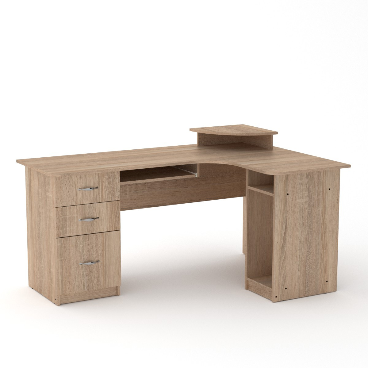 Стол компьютерный СУ-3 дуб сонома Компанит (160х110х87 см)