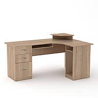 Стол компьютерный СУ-3 дуб сонома Компанит (160х110х87 см), фото 1