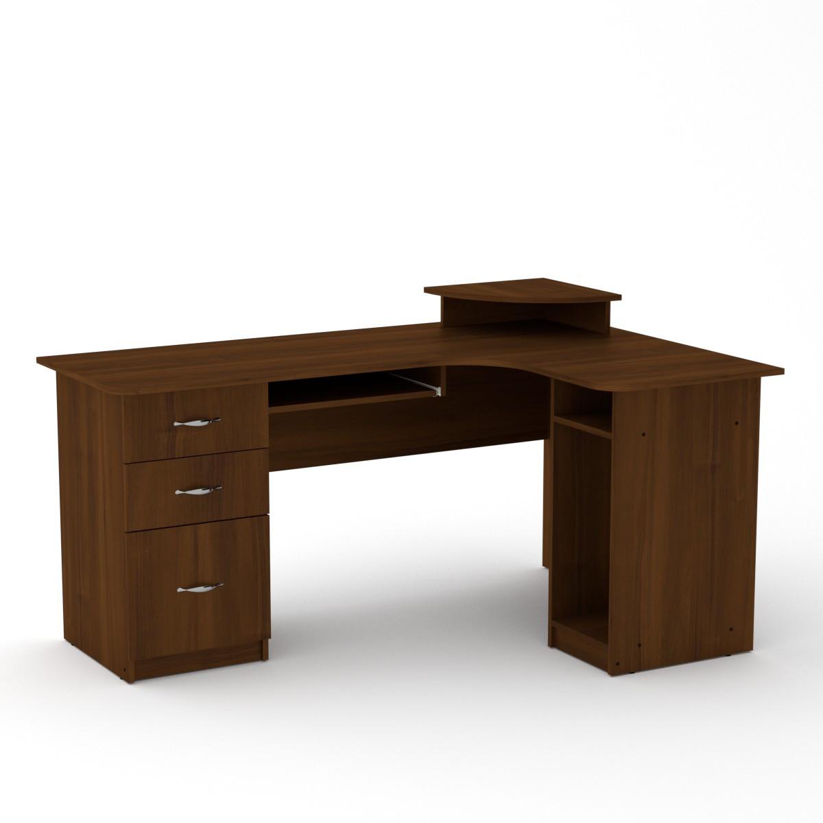 Стол компьютерный СУ-3 орех экко Компанит (160х110х87 см)