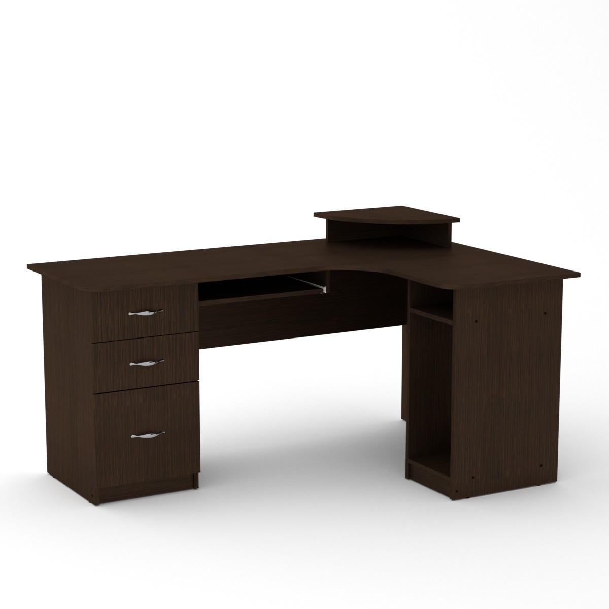 Стол компьютерный СУ-3 венге темный Компанит (160х110х87 см)