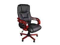 Кресло офисное черное кожа  BSL 004