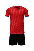 Футбольная форма Europaw 016 красно-черная