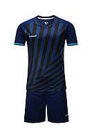 Футбольная форма Europaw 016 темно-сине-бирюзовая