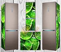 Дизайнерские наклейки на холодильник Лайм