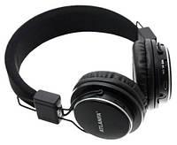 Bluetooth наушники Atlanfa-Monster 7611. (Черные, встроенное радио, слот SD карты)