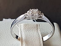 Серебряное кольцо с фианитами. Артикул 901-01005 16,5, фото 1