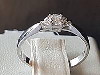 Срібне кільце з фіанітами. Артикул 901-01005 16,5, фото 1