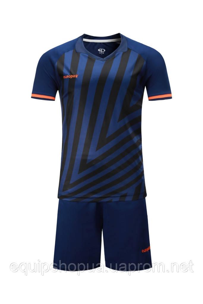 Футбольная форма Europaw 016 темно-сине-оранжевая