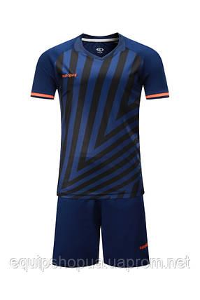 Футбольная форма Europaw 016 темно-сине-оранжевая, фото 2