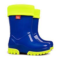 Дитячі гумові чоботи DEMAR Twister Lux Fluo A (Флуо сині)