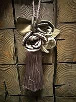 Кисть для шторы цветы, декор (ключница)