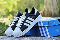 Размер: 41 42 43 44 45. Мужские кроссовки Adidas Superstar. Кожа 100%. Черно белые
