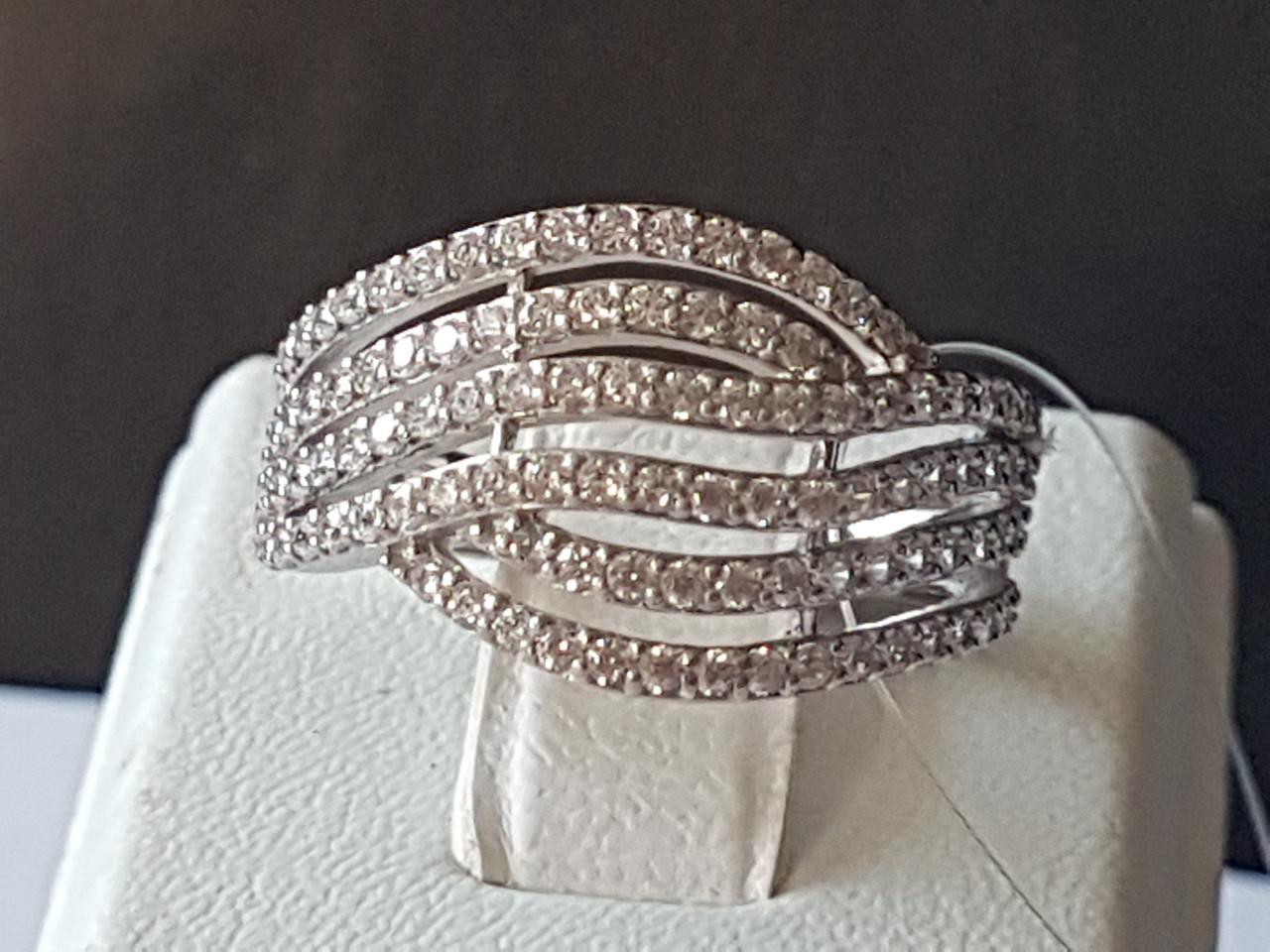 Серебряное кольцо с фианитами. Артикул 901-00340 16