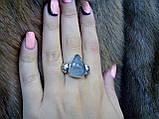 Красивое кольцо турмалиновый кварц в серебре. Кольцо с турмалиновым кварцем 18,5 размер Индия, фото 5