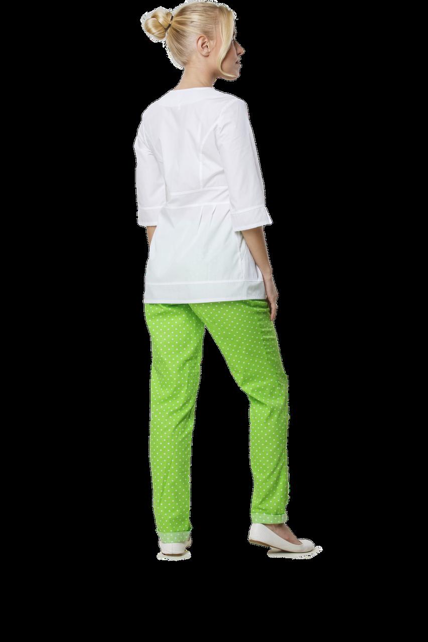 Жакет медицинский женский Полина 46-170 рубашечный белый