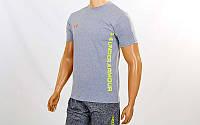 Компрессионная мужская футболка Under Armour светло-серый