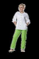 Жакет медицинский женский Полина 42-170 рубашечный белый