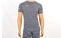 Компрессионная мужская футболка с коротким рукавом Under Armour темно-серый