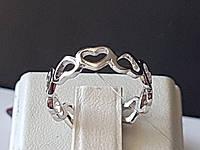 Срібне кільце. Артикул 901-01016 16,5, фото 1