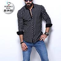 Стильная мужская рубашка с длинным рукавом-трансформером (Турция)