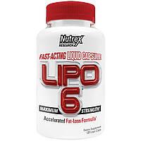Жиросжигатель Nutrex Lipo-6 Liqui-caps Maximum Strength (120 caps)