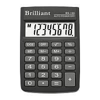 Калькулятор Brilliant BS-100 8ми разрядный, 1 тип питания