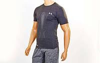 Компрессионная мужская футболка Under Armour темно-серый