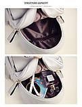 Рюкзак жіночий міні з блискітками Кіт (чорний), фото 8