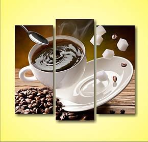 """Модульная картина с кофе """"Доброе утро"""", картины для кухни"""