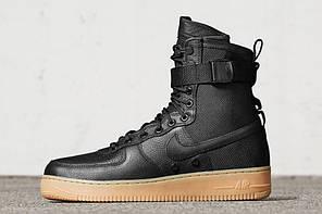 "Кроссовки Nike Air Force 1 Special Field SF On Feet ""Черные"", фото 2"