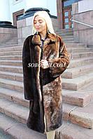 Шуба-пальто из норки с английским воротником натурального цвета Копенгаген аукцион