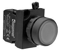 Кнопка нажимная круглая (1НО) черная - пластик IP65