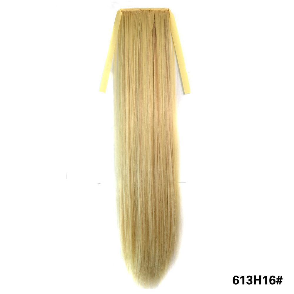 Искусственный хвост на ленте оттенок №613-16 блонд мелированный