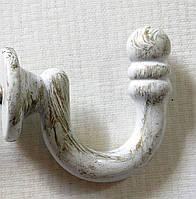 Крючок металлический 35х35 мм, белое золото