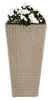 Напольный садовый горшок - вазон для цветов из петана (ротанг), высота 70 см