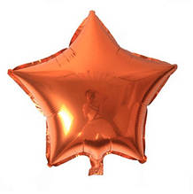 Шар звезда 46 см оранжевая с гелием