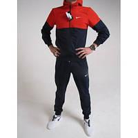 Теплый с начесом зимний спортивный костюм, красный с черным. Модель на выбор. Высокий рост и большой размер