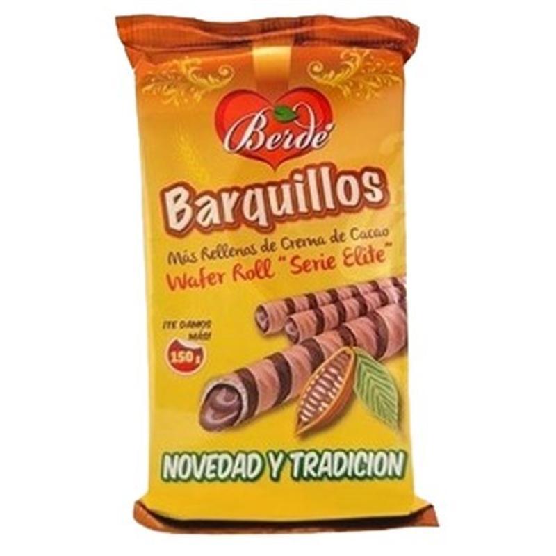 Трубочки Berde Barquillos с какао, 150 г (Испания)