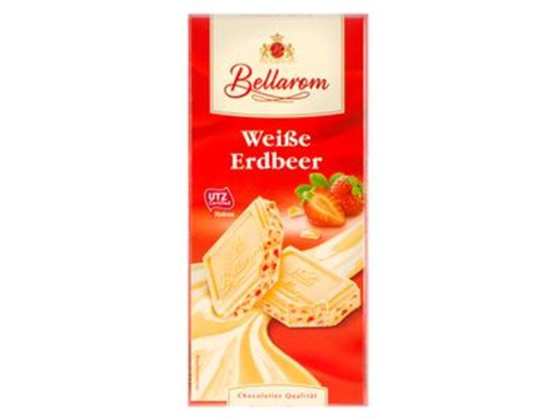 Шoколад белый Bellarom Weibe Erdbeer, 200 г (Германия)