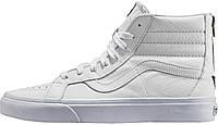 Мужские кеды Vans Reissue Zip Premium Leather White, ванс, вансы