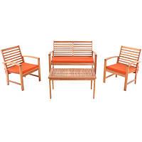 Комплект мебели садовой из дерева на 4 места