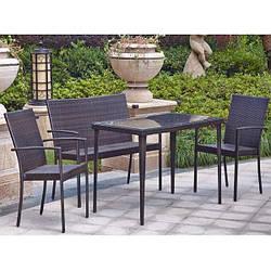 Комплект мебели садовой 4 места (2 кресла + диван)