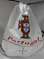 Рюкзачок спортивный на затяжках с символикой сборной Португалии