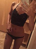 Сексуальный комплект кружевного белья черного цвета Эллен