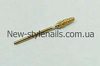Насадка для фрезера, конус (золото, белый ободок)